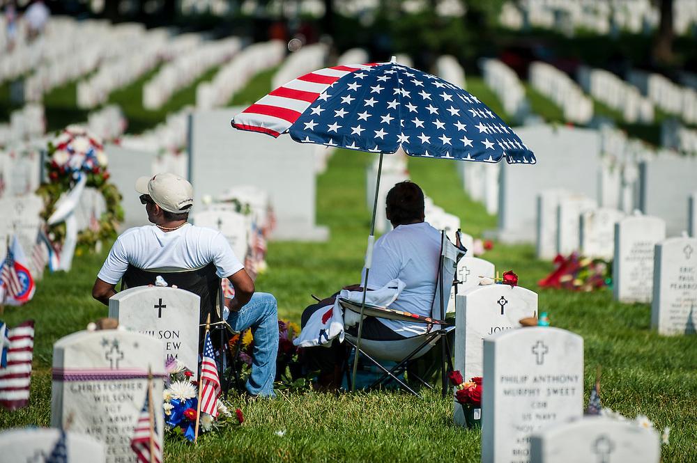 Memorial Day at Arlington National Cemetery in Arlington, VA, USA on 28 May, 2012.