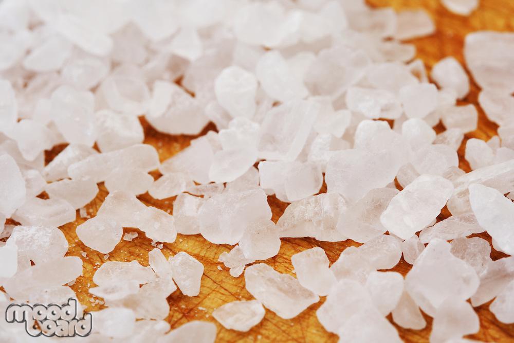 Close-up of salt grains