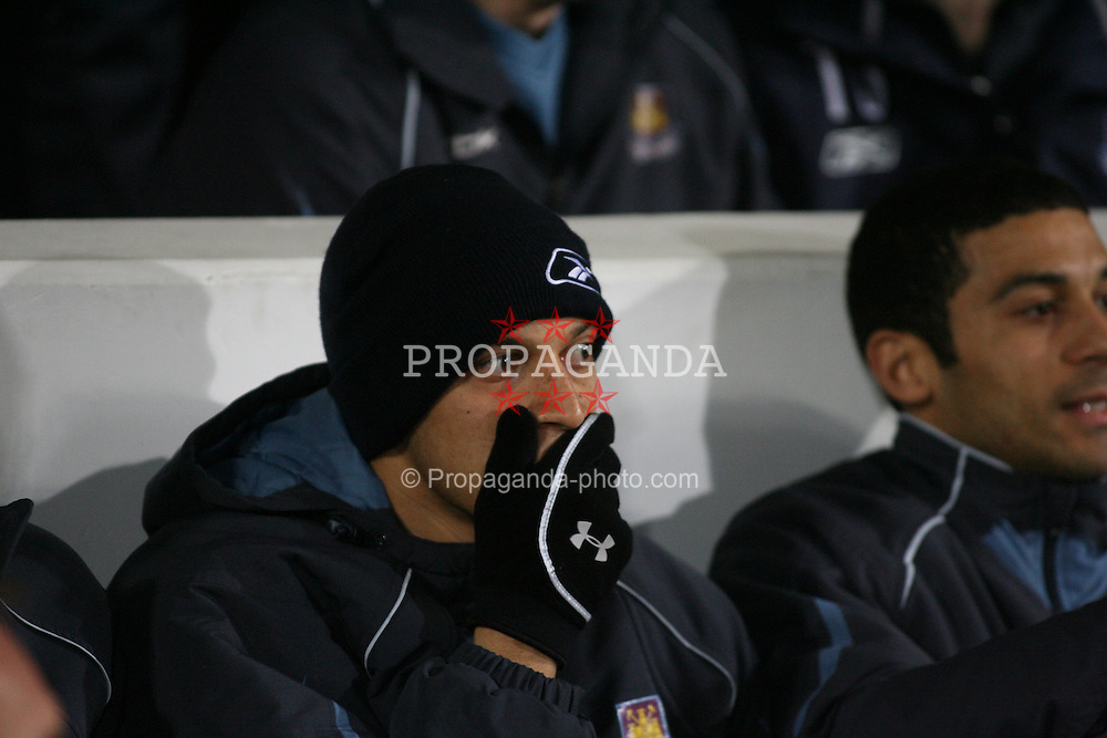 London, England - Tuesday, January 30, 2007: Liverpool against West Ham United's Bobby Zamora during the Premiership match at Upton Park. (Pic by Chris Ratcliffe/Propaganda)