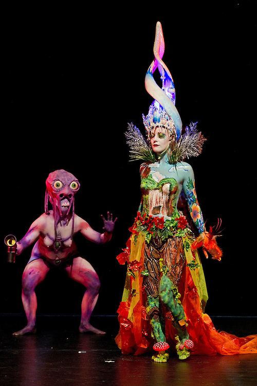 The SPFX Fantasy Category at the New Zealand 2012 Body Art Awards, Bruce Mason Theatre, Takapuna, Auckland, New Zealand, Saturday, September 22, 2012.   Credit: SNPA / David Rowland