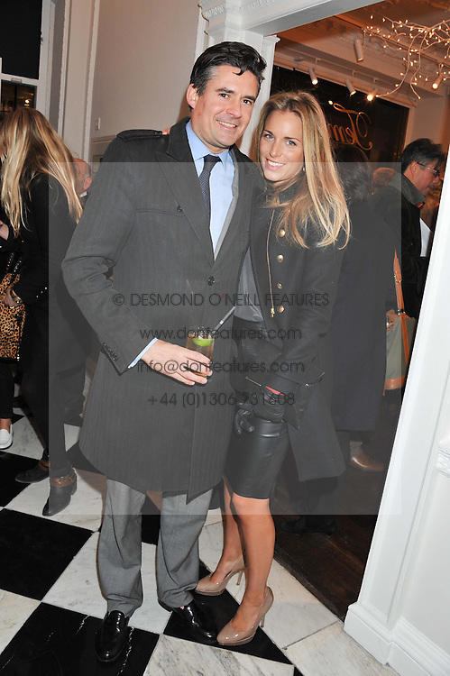 EDWARD TAYLOR and VICTORIA FISHER at a party to celebrate thelaunch of Alice Temperley's flagship store Temperley, Bruton Street, London on 6th December 2012.