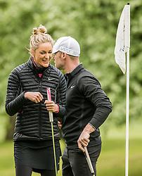 Storm Keating and Ronan Keating at The ISPS HANDA Mike Tindall Celebrity Golf Classic<br /> <br /> (c) John Baguley | Edinburgh Elite media
