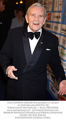 Actor NORMAN WISDOM at a reception in London on 23rd February 2003.PHK 130