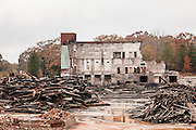 OPELIKA, AL – NOVEMBER 20, 2016: Langdale Mill, which later became Opelika Manufacturing, burned on November 15, 2016. <br /> <br /> In much of the United States, global trade and technological innovation has failed to produce the prosperity hoped for by political and business leaders. Yet despite formidable economic challenges, some localities are flourishing. In Lee County, Ala., unemployment is below the national average despite the loss of thousands of manufacturing jobs, and the key to the county's resilience may be Auburn University, which provided a steady source of employment during recessions and helped draw new businesses to replace those that fled. CREDIT: Bob Miller for The Wall Street Journal<br /> [RESILIENT]