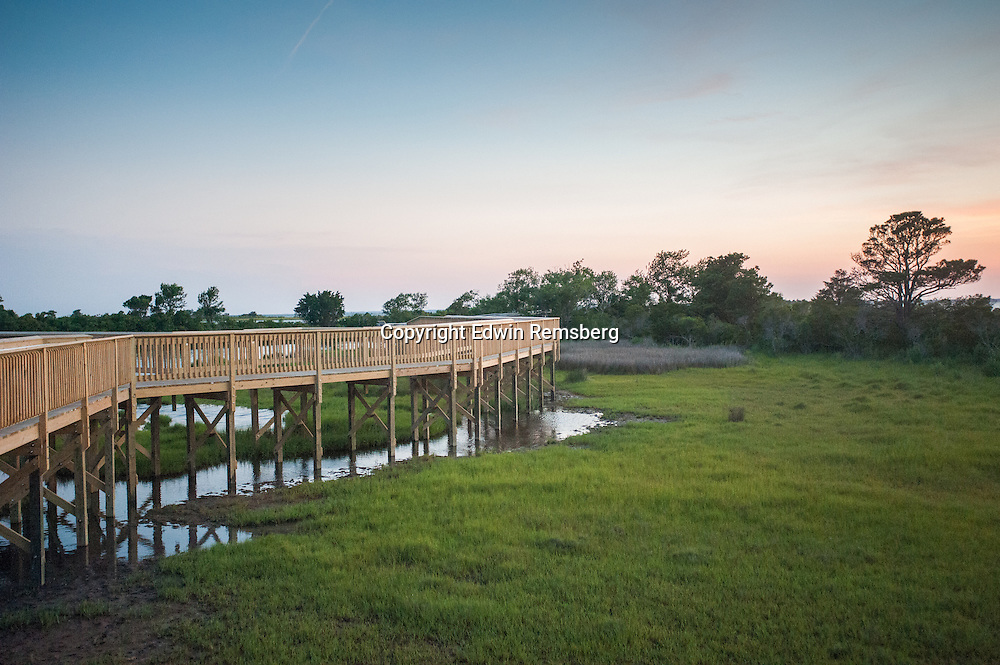 Nature trail boardwalk at the Assateague Island National Seashore, Maryland, USA