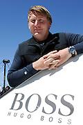 Hugo Boss skipper Andrew Cape (AUS). Barcelona World Race. 27/12/2007