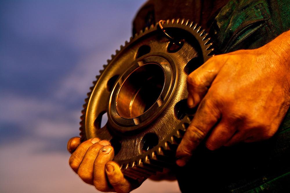Truck gear spare parts in Bolzano, Italy.