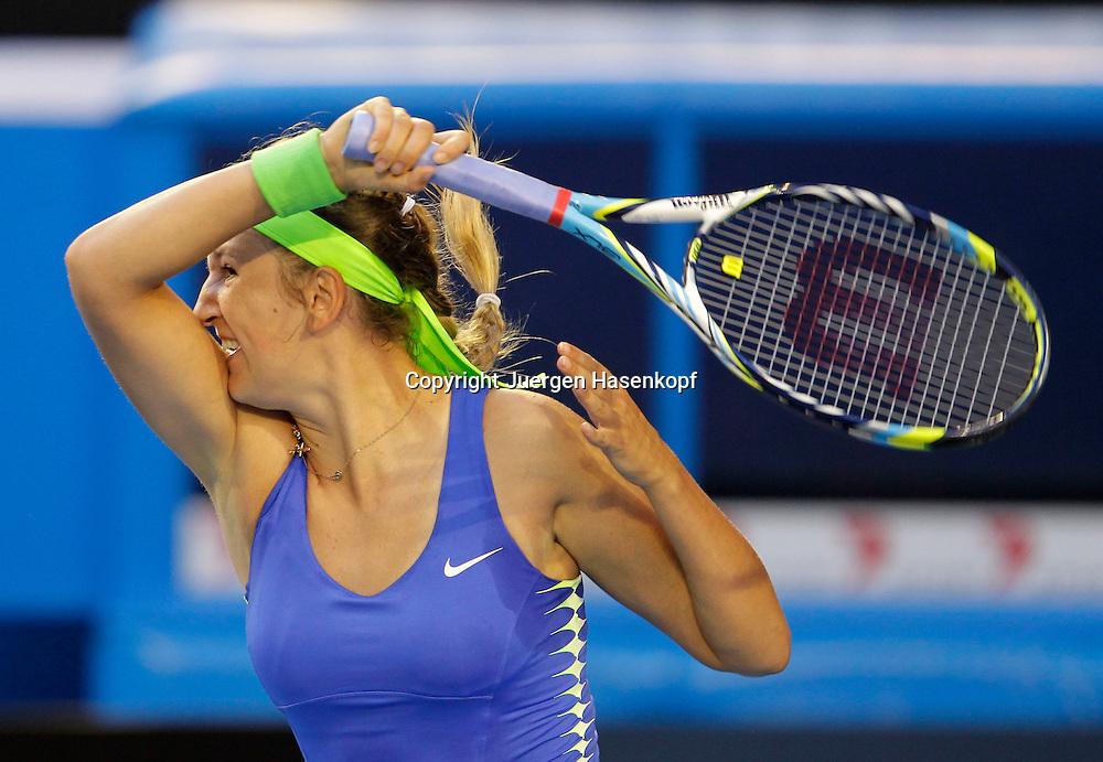 Australian Open 2012, Melbourne Park,ITF Grand Slam Tennis Tournament . Damen Finale,Victoria Azarenka (BLR),Einzelbild,Halbkoerper,Querformat,