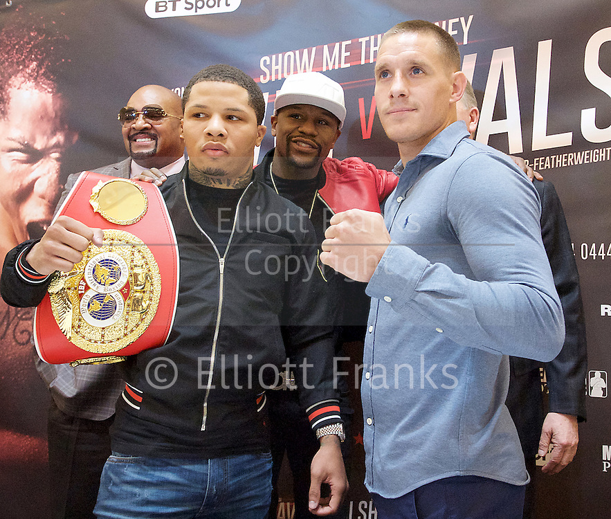 Floyd Mayweather Jr & Frank Warren press conference at The Savoy Hotel, London, Great Britain <br /> 7th March 2017 <br /> <br /> <br /> <br /> <br /> Gervonta Davis <br /> (an American professional boxer who has held the IBF junior lightweight title since January 2017)<br /> <br /> 