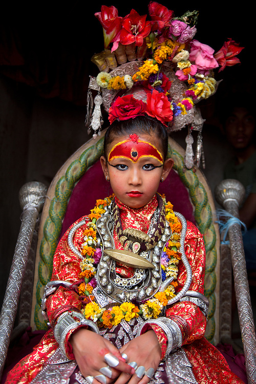 Unika Vajracharya was on her throne when the earthquake struck in April and, according to her family, entered a trance-like state and reassured them that they were safe.