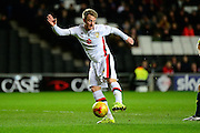 MK Dons striker Dean Bowditch opens the scoring the Sky Bet Championship match between Milton Keynes Dons and Middlesbrough at stadium:mk, Milton Keynes, England on 9 February 2016. Photo by Dennis Goodwin.