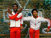 break dancers colin and venol, London 1983