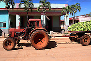 Tractor in Quivican, Mayabeque Province, Cuba.