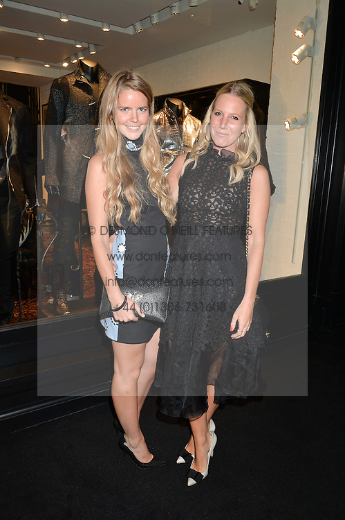 Left to right, KATIE READMAN and ALICE NAYLOR-LEYLAND at a party to celebrate the launch of the first European John Varvatos Store, 12-13 Conduit Street, London held on 3rd September 2014.