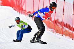 LUCHINI Jacapo, SB-UL, ITA, POLLARD Sean, AUS, Snowboard Cross at the WPSB_2019 Para Snowboard World Cup, La Molina, Spain
