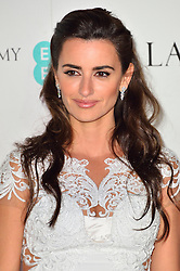 © Licensed to London News Pictures. 13/02/2016. PENELOPE CRUZ attends the BAFTA Lancôme Nominees' Party held at Kensington Palace. London, UK. Photo credit: Ray Tang/LNP