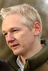 Copyright| London News Pictures 17/12/2010 Julian Assange photographed today (Fri) on the first day of his house arrest in the grounds of Ellingham Hall, Norfolk. Picture credit should read London News Pictures