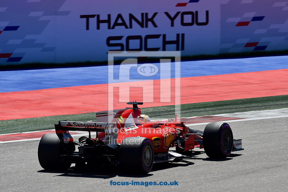 Sebastian Vettel of Scuderia Ferrari en route to coming second in the Russian Formula One Grand Prix at Sochi Autodrom, Sochi, Russia.<br /> Picture by EXPA Pictures/Focus Images Ltd 07814482222<br /> 30/04/2017<br /> *** UK & IRELAND ONLY ***<br /> <br /> EXPA-EIB-170430-0313.jpg