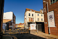 Humber Street, Kingston Upon Hull, East Yorkshire, United Kingdom, 09 February, 2015. Picture: Demolished to be re built building on the North side of Humber Street