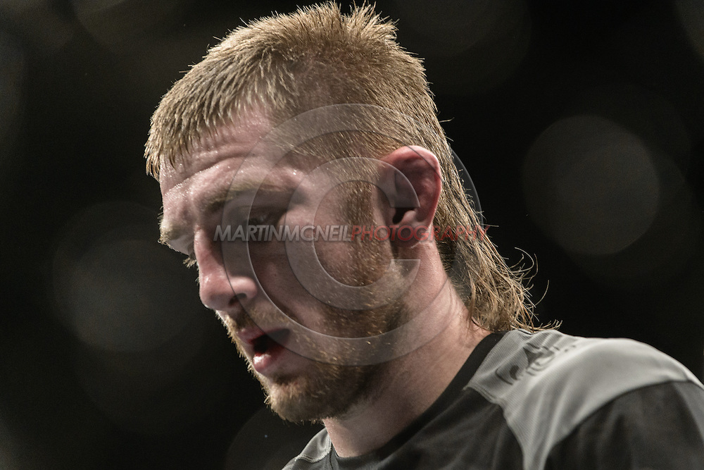 """LONDON, ENGLAND, MARCH 8, 2014: Danny Mitchell during """"UFC Fight Night: Gustafsson vs. Manuwa"""" inside the O2 Arena in Greenwich, London on Saturday, March 8, 2014 (© Martin McNeil)"""