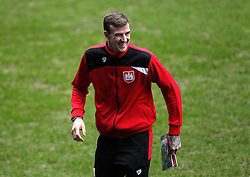Aden Flint of Bristol City smiles as he inspects The Madejski Stadium - Mandatory byline: Robbie Stephenson/JMP - 07966 386802 - 02/01/2016 - FOOTBALL - Madejski Stadium - Reading, England - Reading v Bristol City - Sky Bet Championship