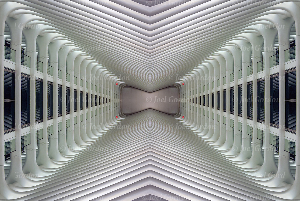 Computer abstract of altered and enhanced  Underpass designed by Pelli Clarke  as digital computer art.<br />