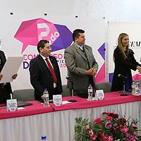 Toluca, México (Octubre 28, 2016).- Pedro Zamudio Godínez, Consejero Presidente del IEEM durante la clausura y premiación del concurso de Debate Político del Instituto Electoral del Estado de México.  Agencia MVT / José Hernández