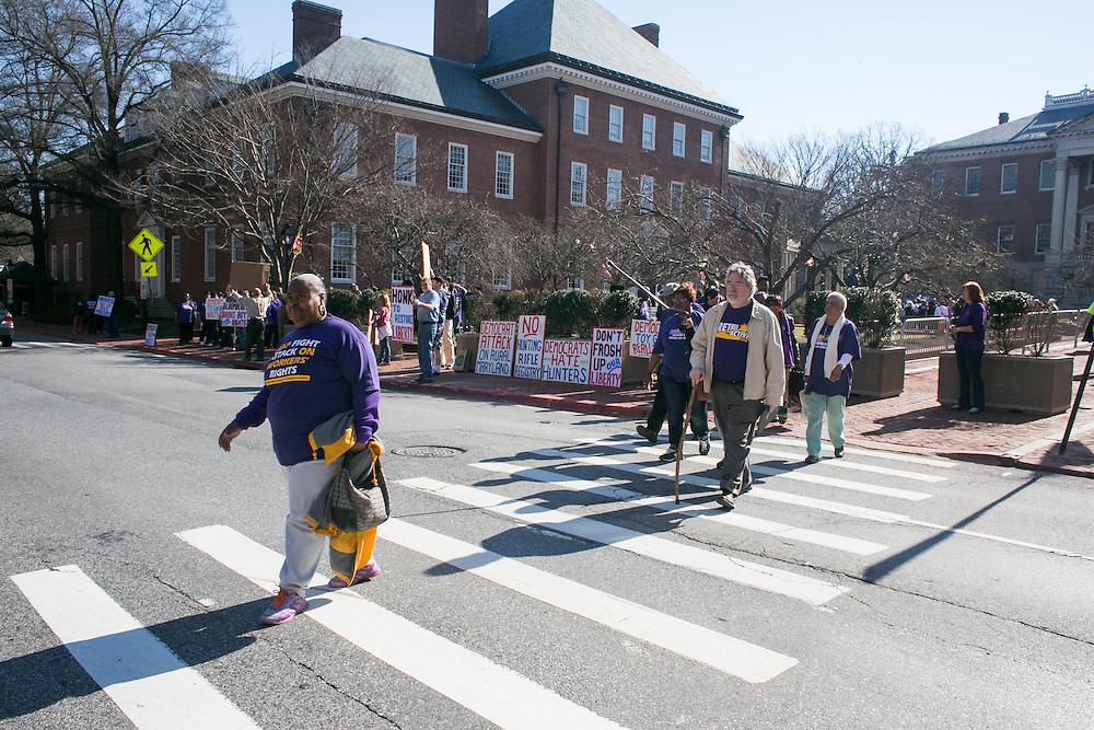 1199 MDDC SEIU's legislative action day in Annapolis, MD on Wednesday, March 9, 2016.
