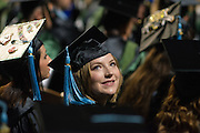 Bailey Joanne Berry participates in fall commencement. Photo by Ben Siegel