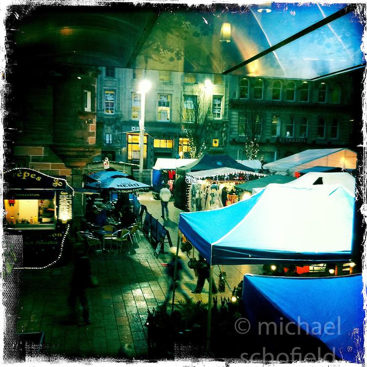 Christmas Market, Glasgow..Hipstamatic images taken on an Apple iPhone..©Michael Schofield.