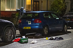 © Licensed to London News Pictures. 16/02/2020. London, UK. Medical equipment on the ground at the scene of a multiple stabbing in Barking. Photo credit: Peter Manning/LNP