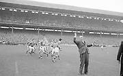 Mr. Hugh O'Byrne President GAA throws in the ball for the All Ireland Senior Gaelic Football Championship Final Kerry v Roscommon in Croke Park on the 23rd September 1962. Kerry 1-12 Roscommon 1-6.