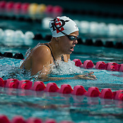 16 November 2017: The San Diego State women's swim team competes in the 2017 A3 Performance Invitational held at the SDSU Aquaplex. SDSU senior Frida Berggren competes in the 200 yard IM.<br /> www.sdsuaztecphotos.com
