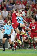 Ben Lucas and Daniel Halangahu. Queensland Reds v NSW Waratahs. Investec Super Rugby Round 10 Match, 24 April 2011. Suncorp Stadium, Brisbane, Australia. Reds won 19-15. Photo: Clay Cross / photosport.co.nz