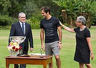 ROGER FEDERER (SUI) trifft Governeur Linda Dessau und ihren Mann Anthony Howard im Government House, <br /> <br /> Australian Open 2017 -  Melbourne  Park - Melbourne - Victoria - Australia  - 28/01/2017.