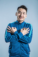 Portrait of Chinese soccer player Yang Xiaotian of Jiangsu Suning F.C. for the 2017 Chinese Football Association Super League, in Nanjing city, east China's Jiangsu province, 27 February 2017.