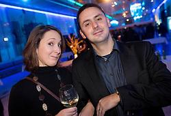 Spela Robnik and Martin Pavcnik at Slovenian Sports personality of the year 2012 annual awards presented on the base of Slovenian sports reporters, on December 20, 2011 in Cankarjev dom, Ljubljana, Slovenia. (Photo By Vid Ponikvar / Sportida.com)