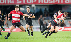 Durban. 300618. Ruan Combrink during the Super Rugby match between Cell C Sharks and Emirates Lions and at Jonsson Kings Park Stadium on June 30, 2018 in Durban, South Africa. Picture Leon Lestrade. African News Agency/ANA