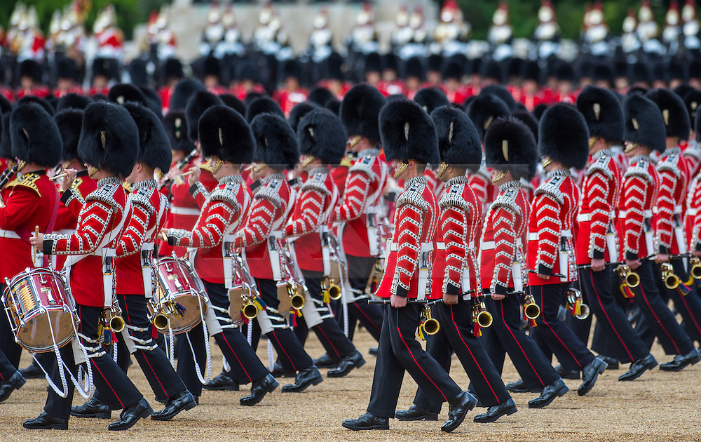 © London News Pictures. 30/05/2015. London, UK. The Major General's Review on Horse Guards Parade, London. 5,500 spectators filled the stands to witness the first of three annual world class military demonstrations that culminate with the Queen's Birthday Parade on 13th June. Photo credit: Sergeant Rupert Frere/LNP