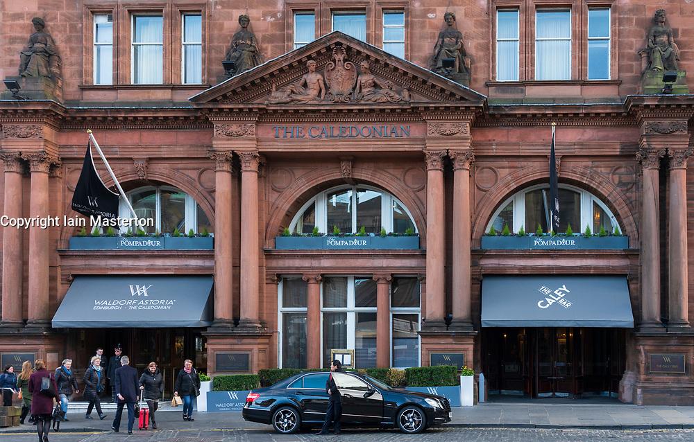 Waldorf Astoria Edinburgh - The Caledonian<br /> Hotel in Edinburgh West End, Scotland, UK
