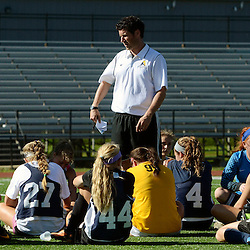 Staff photos by Tom Kelly IV<br /> Agnes Irwin head coach Nick Spillane during the Agnes Irwin School vs Strath Haven girls soccer scrimmage in Nether Providence Township, Thursday August 28, 2014.
