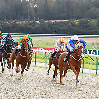 Demoiselle Bond and Robert Havlin winning the 1.00 race