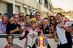 September 22, 2018 - Alcaniz, Teruel, Spain - Jorge Navarro (9) of Spain and Federal Oil Gresini Moto2 Kalex during qualifying for the Gran Premio Movistar de Aragon of world championship of MotoGP at Motorland Aragon Circuit on September 22, 2018 in Alcaniz, Spain. (Credit Image: © Jose Breton/NurPhoto/ZUMA Press)