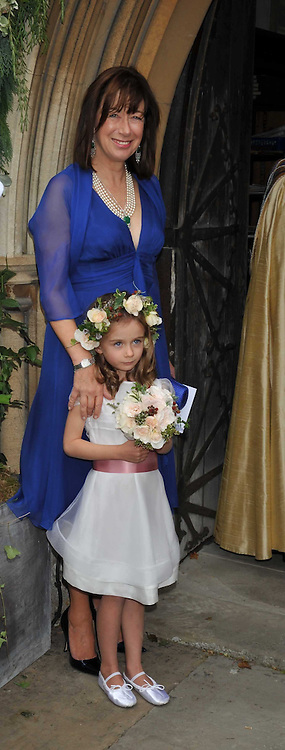 VISCOUNTESS ASTOR and her grand daughter NANCY CAMERON daughter of David Cameron at the wedding of Lohralee Stutz and the Hon.William Astor at St.Augustine's Church, East Hendred, Oxfordshire on 5th September 2009.