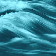 &quot;Blue&quot;<br /> <br /> Gorgeous flowing abstract in hues of blue and aqua!
