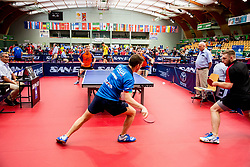 Bas HERGELINK and Emanuel MARTINS FERREIRA of Netherlands vs Igor MISZTAL of Poland and Lorenzo CORDUA of Italy in action during Team events at Day 4 of 15th Slovenia Open - Thermana Lasko 2018 Table Tennis for the Disabled, on May 12, 2018, in Dvorana Tri Lilije, Lasko, Slovenia. Photo by Vid Ponikvar / Sportida