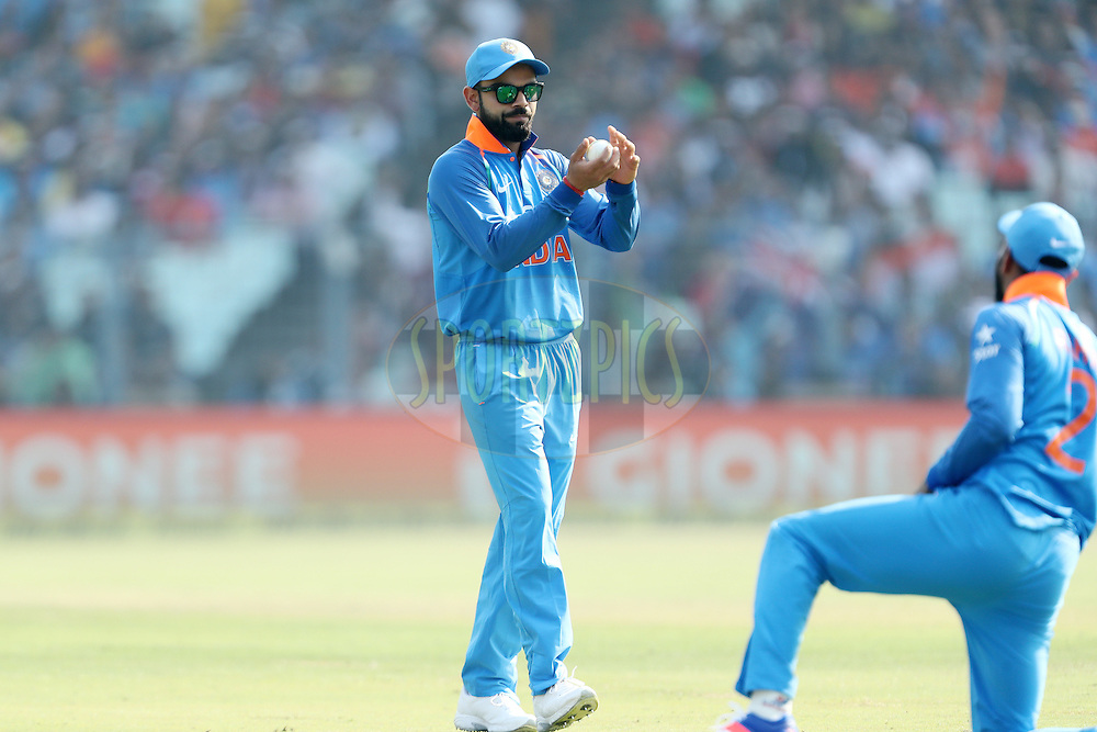 Virat Kohli Captain of India during the third One Day International (ODI) between India and England  held at Eden Gardens in Kolkata on the 22nd January 2017<br /> <br /> Photo by: Ron Gaunt/ BCCI/ SPORTZPICS