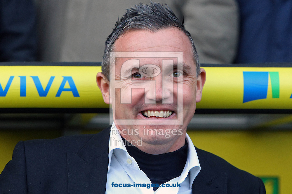 Picture by Paul Chesterton/Focus Images Ltd +44 7904 640267.26/01/2013.Luton Town Manager Paul Buckle before The FA Cup 4th Round match at Carrow Road, Norwich.