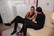GIOVANNA SILVA; GOSHKA MACUGA;  Valeria Napoleone hosts a dinner at her apartment e to celebrate the publication of her book  Valeria Napoleone's Catalogue of Exquisite Recipes. Palace Green. Kensington. London. 28 September 2012.