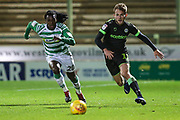 Yeovil Towns Sessi D'Almeida(20) and Forest Green Rovers George Williams(11) during the EFL Sky Bet League 2 match between Yeovil Town and Forest Green Rovers at Huish Park, Yeovil, England on 8 December 2018.